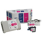 Genuine Hewlett Packard (C4892A) HP 80 Magenta Ink Cartridge and Printhead Value Pack
