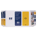 Genuine Hewlett Packard (C4893A) HP 80 Yellow Ink Cartridge and Printhead Value Pack