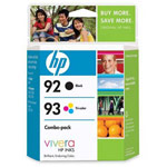 Genuine Hewlett Packard (C9513FN) HP 92 & HP 93 Ink Cartridge Combo Pack
