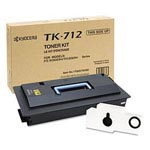 Genuine Kyocera Mita TK712 Black Toner Cartridge