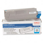 Genuine Okidata 43324403 High Yield Cyan Toner Cartridge