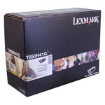 Genuine Lexmark T650H41G High Yield Black Government Return Program Toner Cartridge (TAA Compliant Version of T650H11A)