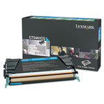 Genuine Lexmark C746A1CG Cyan Return Program Toner Cartridge