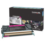 Genuine Lexmark C746A1MG Magenta Return Program Toner Cartridge