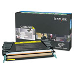 Genuine Lexmark C746A1YG Yellow Return Program Toner Cartridge