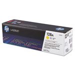 Genuine HP 128A (CE322AG) Yellow Government Smart Print Toner Cartridge (TAA Compliant version of CE322A)