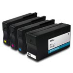 Remanufactured HP 950XL and HP 951XL CMYK Ink Cartridge - 4 Pack