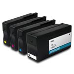 Remanufactured HP 950 and HP 951 CMYK  Ink Cartridge - 4 Pack