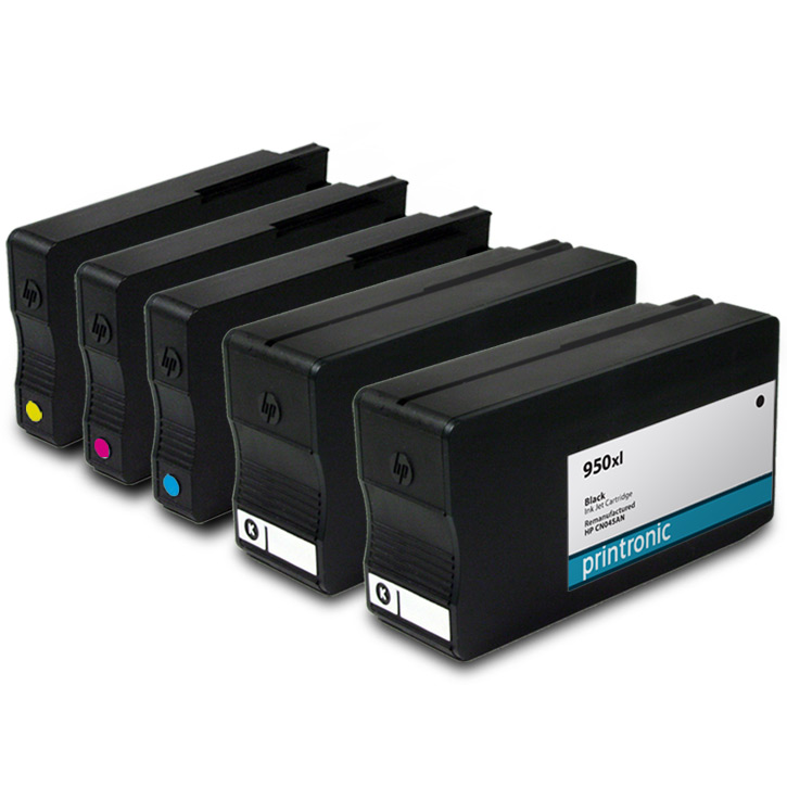 5pk ink cartridges hp 950xl hp 951xl for officejet pro 251dw 8600 8610 printers ebay. Black Bedroom Furniture Sets. Home Design Ideas