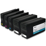 Remanufactured HP 950XL and HP 951XL CMYK Ink Cartridge - 5 Pack