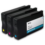 Remanufactured HP 951XL CMYK Ink Cartridge - 3 Pack
