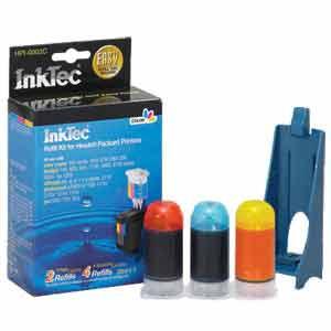 InkTec Refill Kit for HP 17, 23, 41, and 78 Inkjet Cartridges