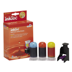 InkTec Refill Kit for Canon CL-41 and CL-51 Inkjet Cartridges