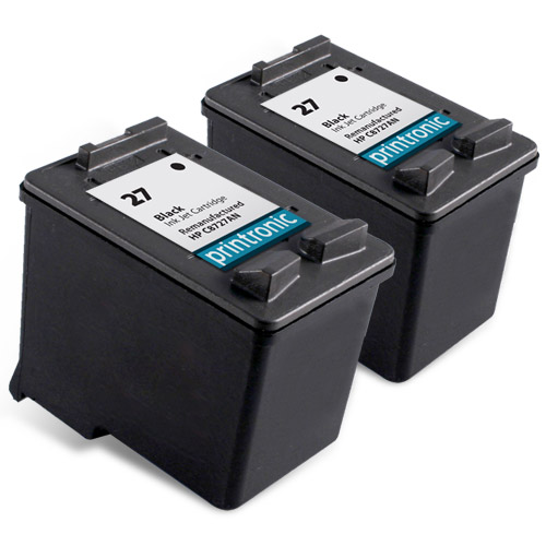 2 Pack Compatible HP 27 (C8727AN)Black Ink Catridge