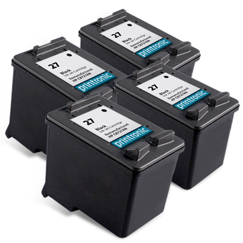 4 Pack Compatible HP 27 (C8727AN)Black Ink Cartridge