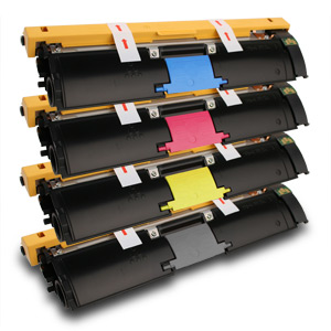 4 Pack Minolta 2400W, 2430DL, 2450, 2500W, 2530DL High Yield Compatible Toner Cartridge Set