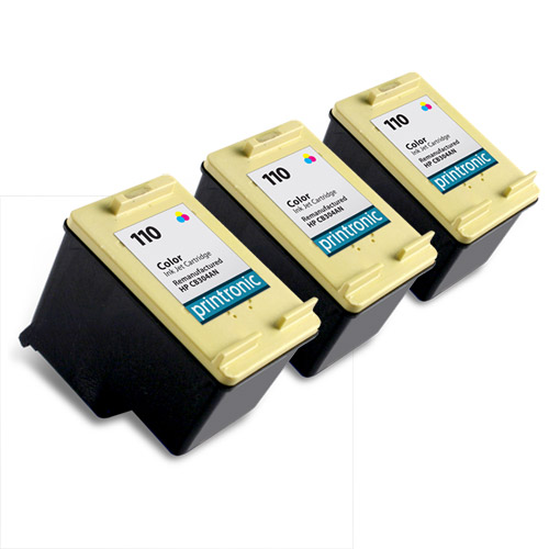 3 Pack Compatible HP 110 (CB304AN) Color Ink Cartridge