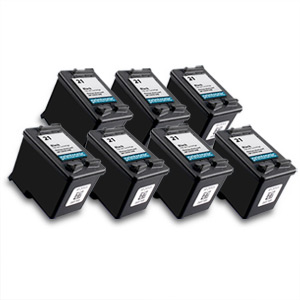 7 Pack Compatible HP 21 (C9351AN)Black Ink Cartridge
