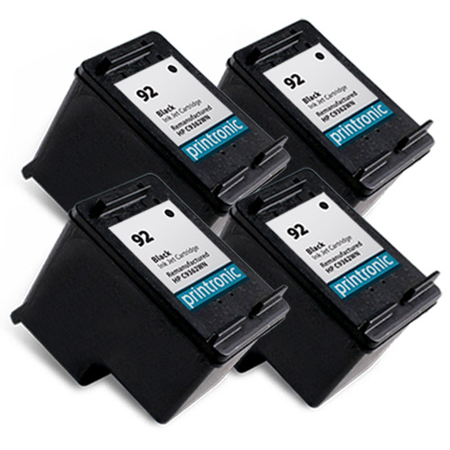 4 Pack for Compatible HP 92 (C9362WN)Black Ink Cartridge