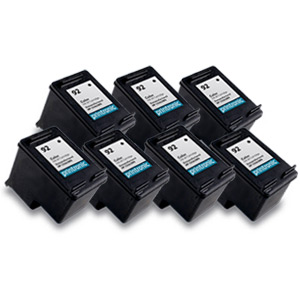 7 Pack Compatible HP 92(C9362WN)Black Ink Cartridge