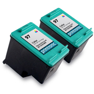 2 Pack Compatible HP 97 (C9363WN) Color Ink Cartridge