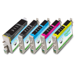 5 Pack Compatible Epson T043120, T044120, T044220, T044320, T044420
