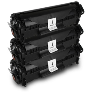 3 Pack Compatible HP Q2612A Black Toner Cartridge