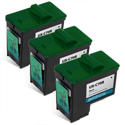 screenshot of 3 Pack Compatible Sharp UX-C70B Black Ink Cartridge