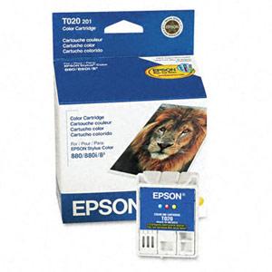 Genuine Epson T020201 Color Ink Cartridge