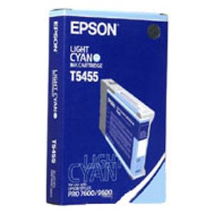 Genuine Epson T545500 Light Cyan Dye Ink Cartridge