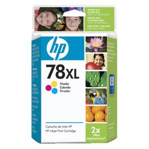 Genuine Hewlett Packard (C6578AN) HP 78XL High Capacity Color Ink Cartridge