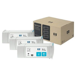 Genuine Hewlett Packard (C5067A) HP 81 Cyan Dye Ink Cartridge