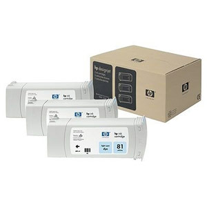 Genuine Hewlett Packard (C5070A) HP 81 Light Cyan Dye Ink