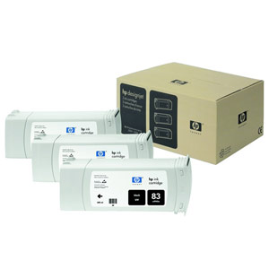 Genuine Hewlett Packard (C5072A) HP 83 Black UV Ink Cartridge