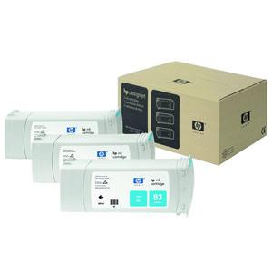 Genuine Hewlett Packard (C5073A) HP 83 Cyan UV Ink Cartridge