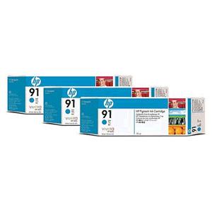 Genuine Hewlett Packard (C9483A) HP 91 Cyan Ink Cartridge Multipack