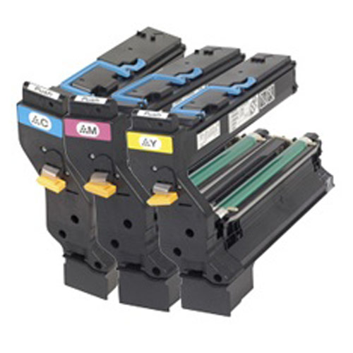 Genuine Konica Minolta 1710598 001 Color Toner Cartridge Value Kit