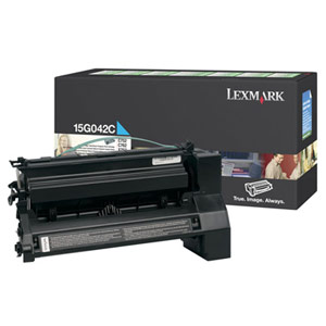 Genuine Lexmark 15G042C High Yield Cyan Toner Return Program Cartridge