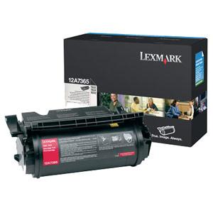 Genuine Lexmark 12A7365 Extra High Yield Black Toner Cartridge