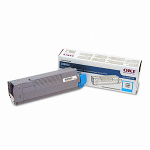 Genuine Okidata 43487735 Cyan Toner Cartridge