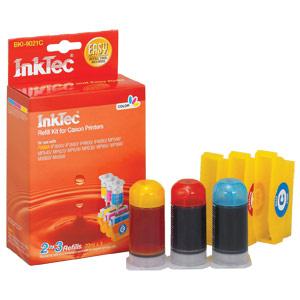 InkTec Refill Kit for Canon CLI-221C, CLI-221M, CLI-221Y Inkjet Cartridge