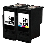 Remanufactured Canon PG-240XL and CL-241XL Cartridge -2 Pack