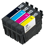 4 Pack Remanufactured Epson 252 Ink Cartridge