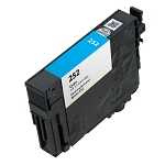Remanufactured Epson 252 Cyan Ink Cartridge