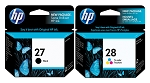 Genuine HP 27 and HP 28 Ink Cartridge - 2 Pack
