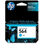 Genuine HP 564 Cyan Ink Cartridge