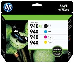 Genuine HP 940XL + HP 940 Ink Cartridge - 4 Pack