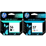 Genuine HP 56 and HP 57 Ink Cartridge - 2 Pack
