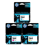 Genuine HP 564 Ink Cartridge - 3 Pack