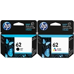 Genuine HP 62 Black and Color Ink Cartridge - 2 Pack